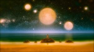 Azure Sky on an Alien Planet